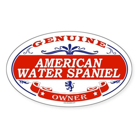 AMERICAN WATER SPANIEL Oval Sticker
