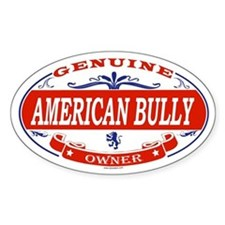 AMERICAN BULLY Oval Bumper Stickers