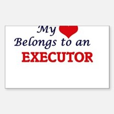 My Heart Belongs to an Executor Decal