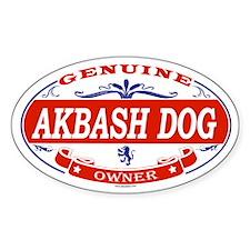 AKBASH DOG Oval Decal