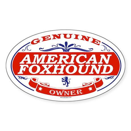 AMERICAN FOXHOUND Oval Sticker