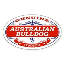 AUSTRALIAN BULLDOG Oval Decal