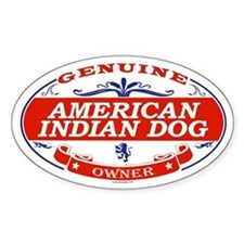 AMERICAN INDIAN DOG Oval Decal
