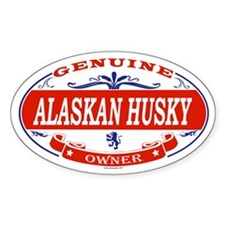 ALASKAN HUSKY Oval Decal