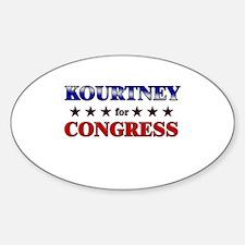 KOURTNEY for congress Oval Decal