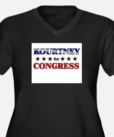 KOURTNEY for congress Women's Plus Size V-Neck Dar