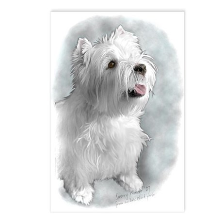 Westie Request Postcards (Package of 8)