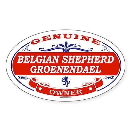 BELGIAN SHEPHERD GROENENDAEL Oval Sticker