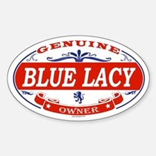 BLUE LACY Oval Decal