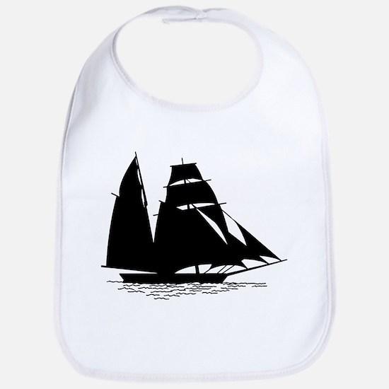 Black Sailboat Bib