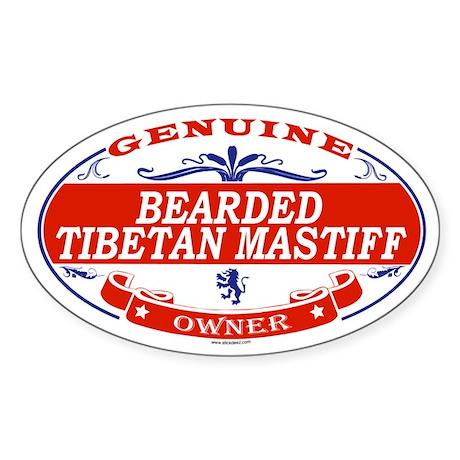 BEARDED TIBETAN MASTIFF Oval Sticker