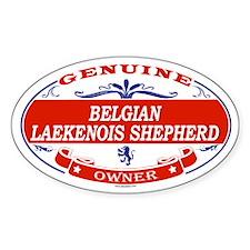BELGIAN LAEKENOIS SHEPHERD Oval Decal