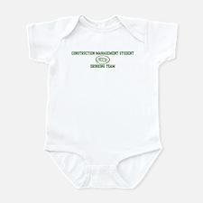 Construction Management Stude Infant Bodysuit