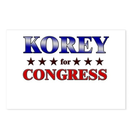 KOREY for congress Postcards (Package of 8)