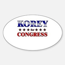 KOREY for congress Oval Decal