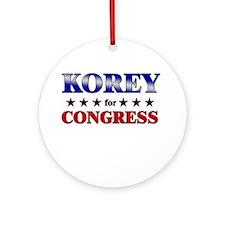 KOREY for congress Ornament (Round)