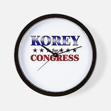 KOREY for congress Wall Clock