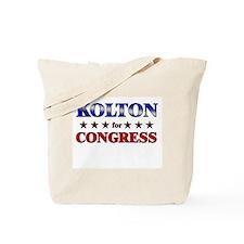 KOLTON for congress Tote Bag