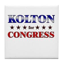 KOLTON for congress Tile Coaster