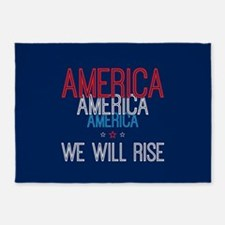 America - We Will Rise 5'x7'Area Rug