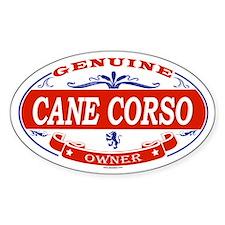 CANE CORSO Oval Decal