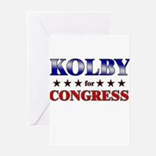KOLBY for congress Greeting Card