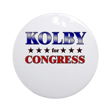KOLBY for congress Ornament (Round)