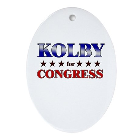 KOLBY for congress Oval Ornament