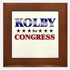 KOLBY for congress Framed Tile