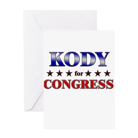 KODY for congress Greeting Card