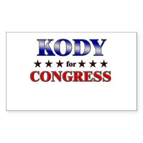 KODY for congress Rectangle Sticker