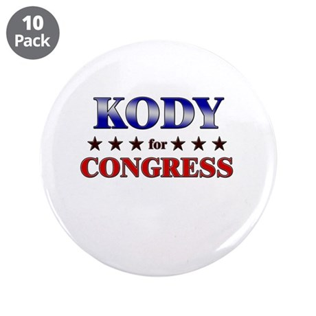 "KODY for congress 3.5"" Button (10 pack)"