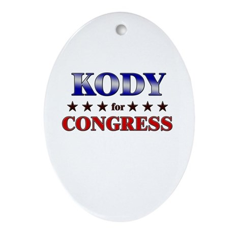 KODY for congress Oval Ornament