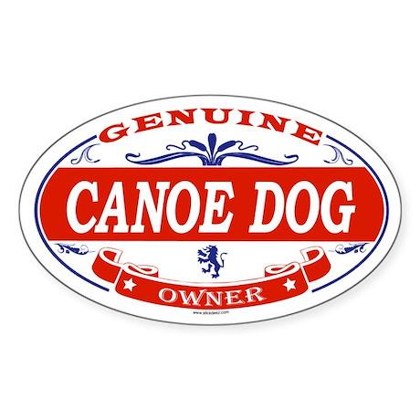 CANOE DOG Oval Sticker