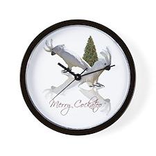 merry cockatoo Wall Clock
