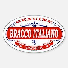 BRACCO ITALIANO Oval Decal
