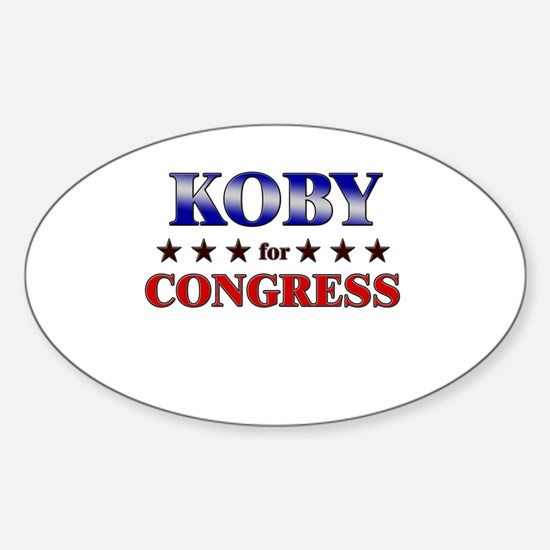 KOBY for congress Oval Decal