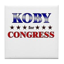 KOBY for congress Tile Coaster