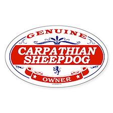 CARPATHIAN SHEEPDOG Oval Decal