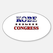 KOBE for congress Oval Decal