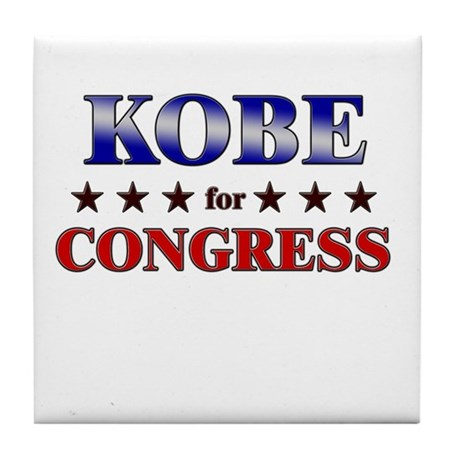 KOBE for congress Tile Coaster