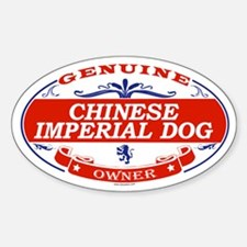 CHINESE IMPERIAL DOG Oval Decal