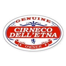 CIRNECO DELLETNA Oval Decal