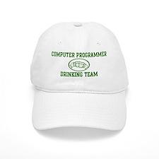 Computer Programmer Drinking Baseball Cap