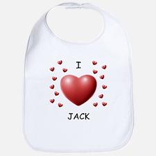 I Love Jack - Bib