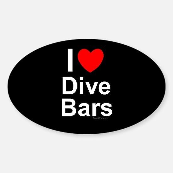 Dive Bars Sticker (Oval)