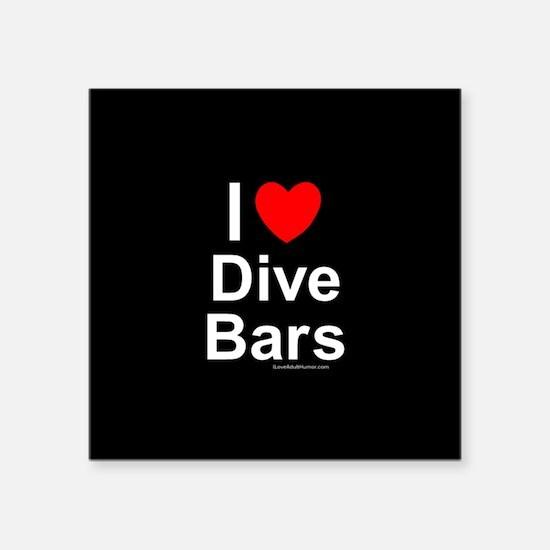 """Dive Bars Square Sticker 3"""" x 3"""""""