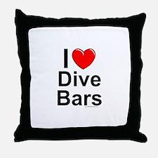 Dive Bars Throw Pillow