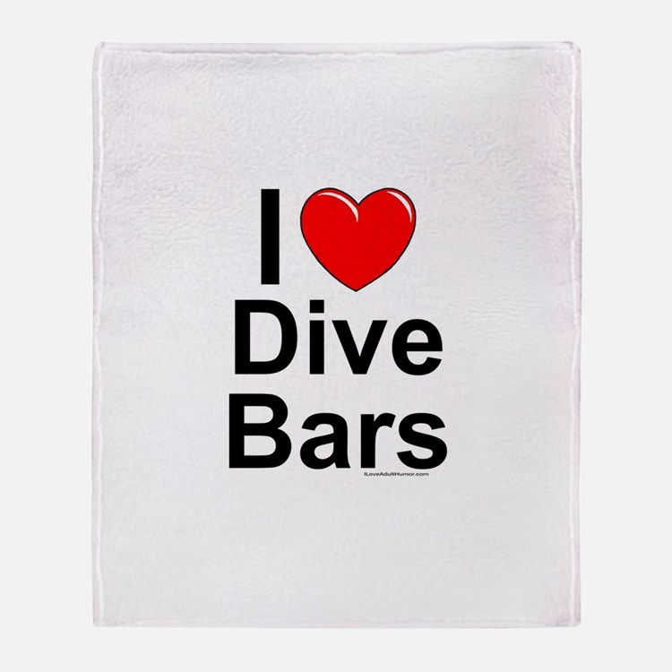 Dive Bars Throw Blanket