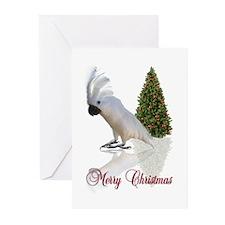 cockatoo christmas Greeting Cards (Pk of 10)